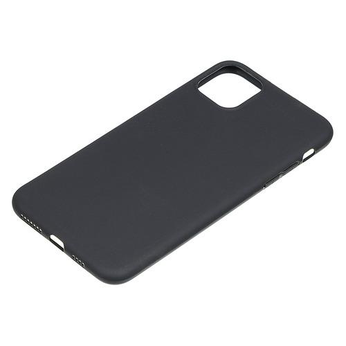 Чехол (клип-кейс) BORASCO Mate, для Apple iPhone 11 Pro Max, черный (матовый) [37568]