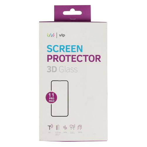 цена на Защитное стекло для экрана VLP для Apple iPhone 11 Pro Max, 3D, 1 шт, черный [vlp-3dgl19-65bk]