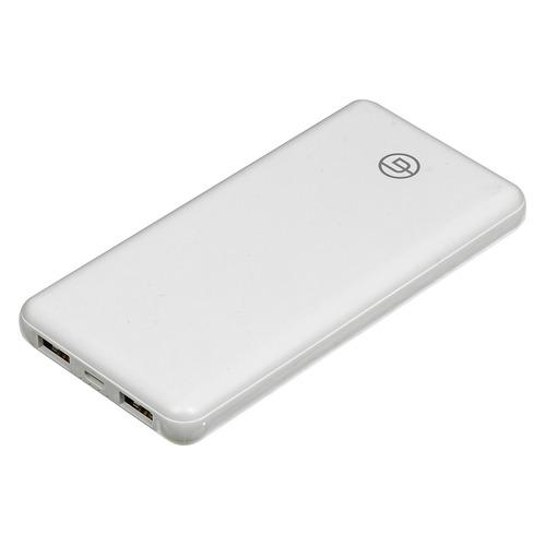цена Внешний аккумулятор (Power Bank) GINZZU GB-3911W, 10000мAч, белый онлайн в 2017 году
