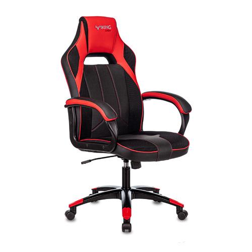 Кресло игровое ZOMBIE VIKING 2 AERO, на колесиках, искусственная кожа/ткань, красный/черный [viking 2 aero red] недорого