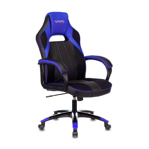 Кресло игровое ZOMBIE VIKING 2 AERO, на колесиках, искусственная кожа/ткань, синий/черный [viking 2 aero blue] недорого