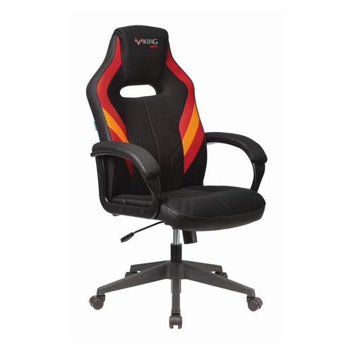 Кресло игровое БЮРОКРАТ VIKING 3 AERO, на колесиках, искусственная кожа/ткань, черный/красный [viking 3 aero red] кресло офисное персона persona доступные цвета обивки искусств чёрная кожа