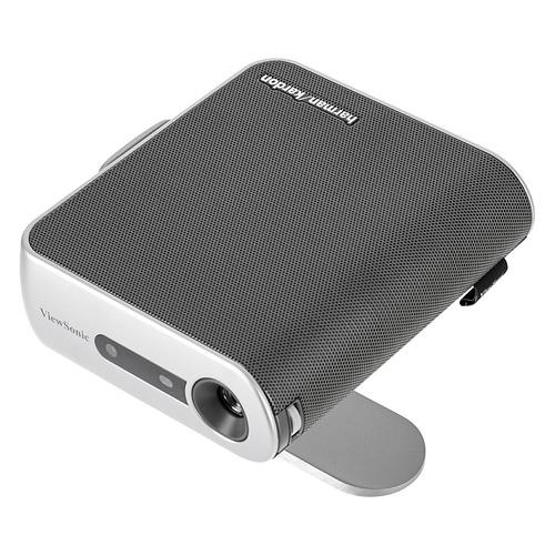 Фото - Проектор VIEWSONIC M1+, серебристый, Wi-Fi [vs17337] проектор viewsonic ps750w dlp 3300lm 10000 1 3000час 2xusb typea 1xhdmi 6 1кг