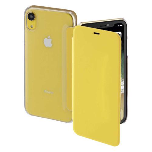 Чехол (флип-кейс) HAMA Clear, для Apple iPhone XR, желтый/прозрачный [00185754] все цены