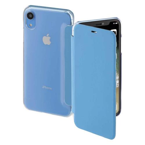 Чехол (флип-кейс) HAMA Clear, для Apple iPhone XR, синий/прозрачный [00185755] все цены