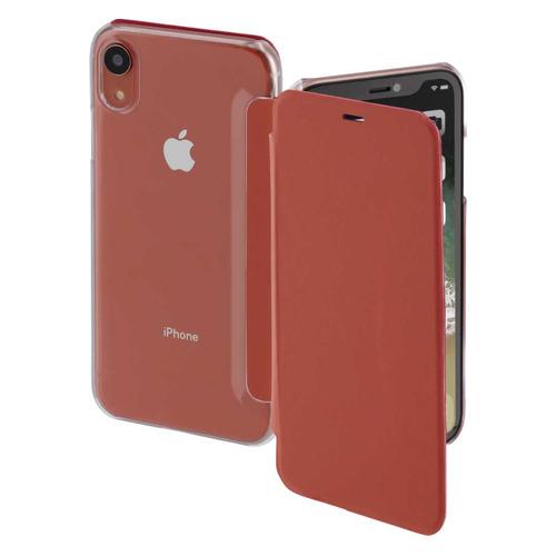 Чехол (флип-кейс) HAMA Clear, для Apple iPhone XR, коралловый/прозрачный [00185756] все цены