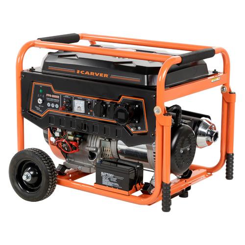 цена на Бензиновый генератор CARVER PPG- 8000Е, 220/12 В, 11.1кВт [01.020.00006]