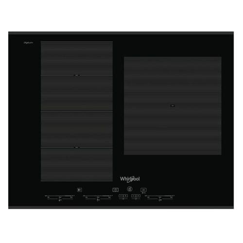 Индукционная варочная панель WHIRLPOOL SMC 653 F/BT/IXL, индукционная, независимая, черный цена и фото