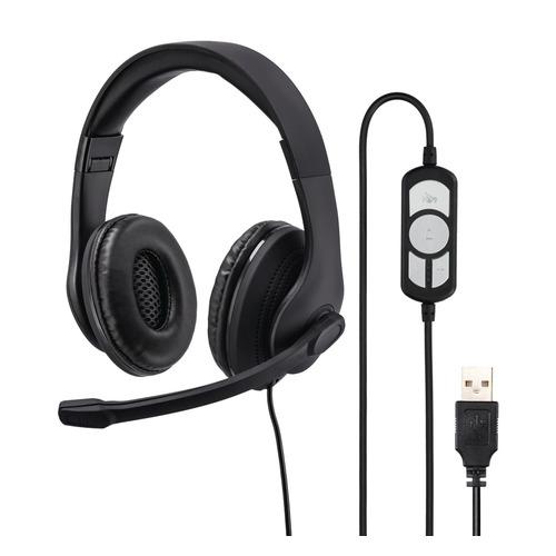 Гарнитура HAMA HS-USB300, для контактных центров, мониторы, черный [00139924] все цены