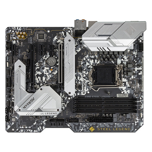 Материнская плата ASROCK Z390 STEEL LEGEND, LGA 1151v2, Intel Z390, ATX, Ret материнская плата asrock z390 phantom gaming 4 lga 1151v2 intel z390 atx ret