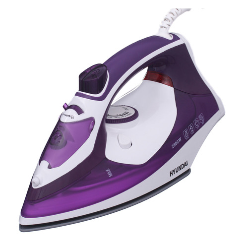 Утюг HYUNDAI H-SI01564, 2600Вт, фиолетовый/ белый утюг centek ct 2338 2600вт фиолетовый