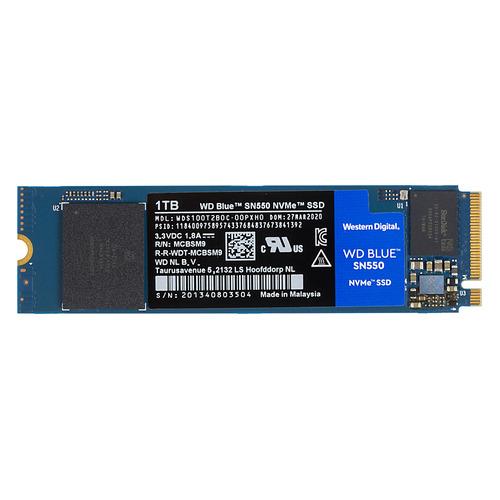 SSD накопитель WD Blue SN550 WDS100T2B0C 1Тб, M.2 2280, PCI-E x4, NVMe wd 4 тб