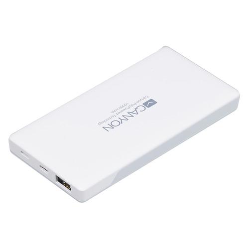 Внешний аккумулятор (Power Bank) CANYON H2CNSTPBP10W, 10000мAч, белый [cns-tpbp10w]