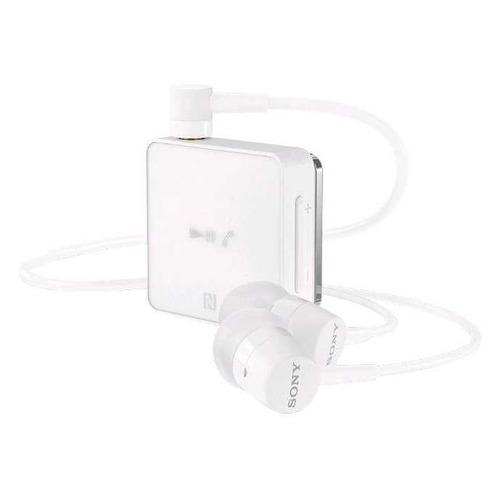Наушники с микрофоном SONY SBH24, Bluetooth, белый цена и фото