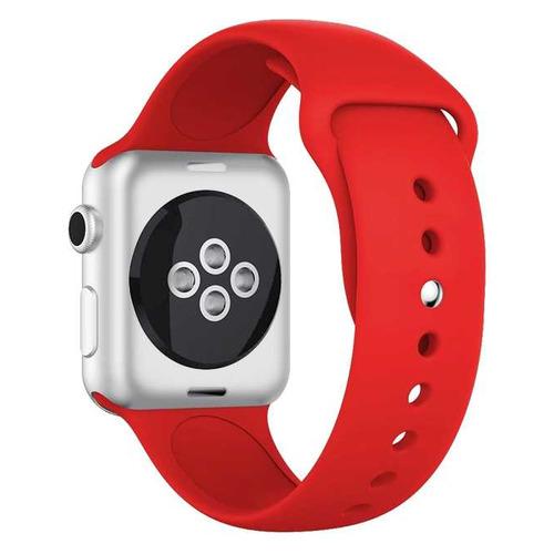 Ремешок DF iSportband-02 для Apple Watch Series 3/4/5 черный/белый (DF ISPORTBAND-02 (BLACK/WHITE)) DF