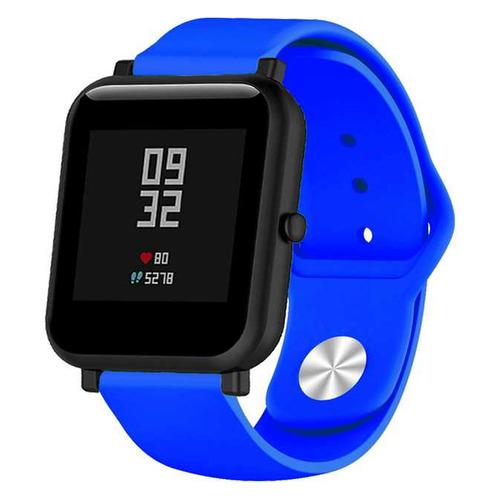 Ремешок DF xiClassicband-01 для Xiaomi Amazfit Bip синий (DF XICLASSICBAND-01 (BLUE)) DF