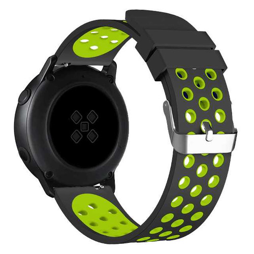 Ремешок DF sSportband-01 для Samsung Galaxy Watch Active/Active2 черный/зеленый (DF SSPORTBAND-01 (B DF