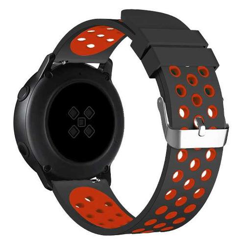 Ремешок DF sSportband-01 для Samsung Galaxy Watch Active/Active2 черный/красный (DF SSPORTBAND-01 (B DF