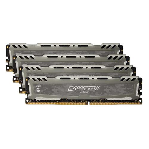 Модуль памяти CRUCIAL Ballistix Sport LT BLS4K4G4D26BFSB DDR4 - 4x 4Гб 2666, DIMM, Ret CRUCIAL