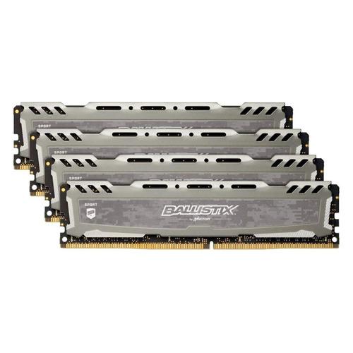 Модуль памяти CRUCIAL Ballistix Sport LT BLS4K8G4D26BFSBK DDR4 - 4x 8Гб 2666, DIMM, Ret CRUCIAL