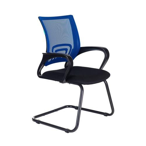 Кресло БЮРОКРАТ CH-695N-AV, на полозьях, ткань, черный [ch-695n-av/bl/tw-11] кресло бюрократ ch 799m bl tw 10