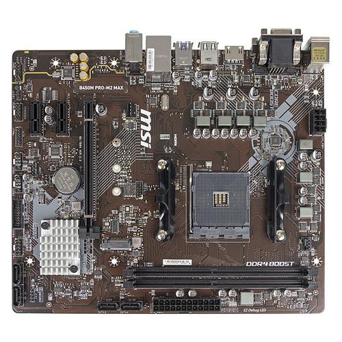 Материнская плата MSI B450M PRO-M2 MAX, SocketAM4, AMD B450, mATX, Ret