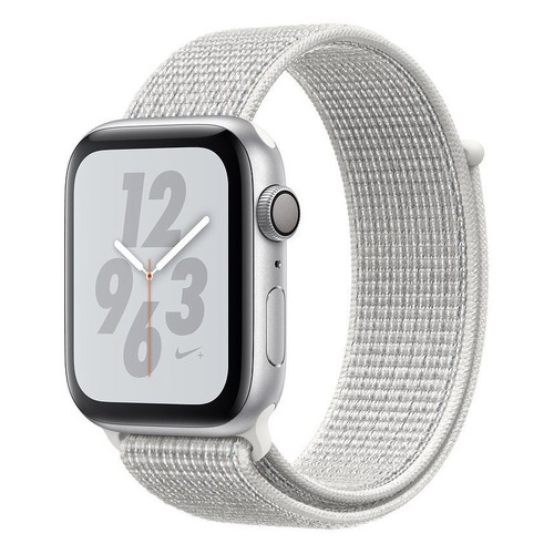 Смарт-часы APPLE Watch Series 4 Nike+, 40мм, серебристый / белый [mu7f2/a] запчасти apple watch