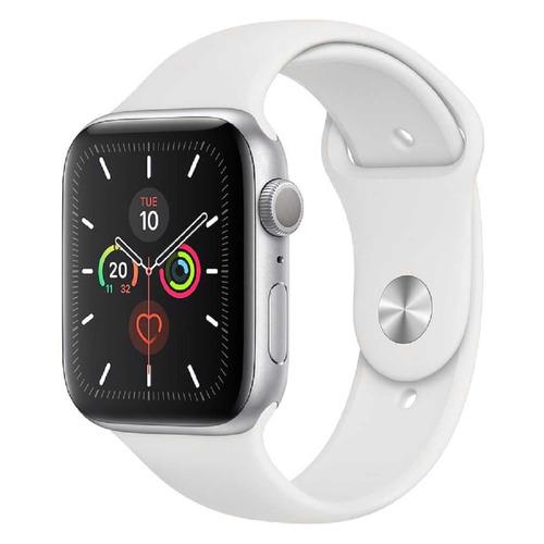 Смарт-часы APPLE Watch Series 5 44мм, серебристый / белый [mwvd2/a] запчасти apple watch