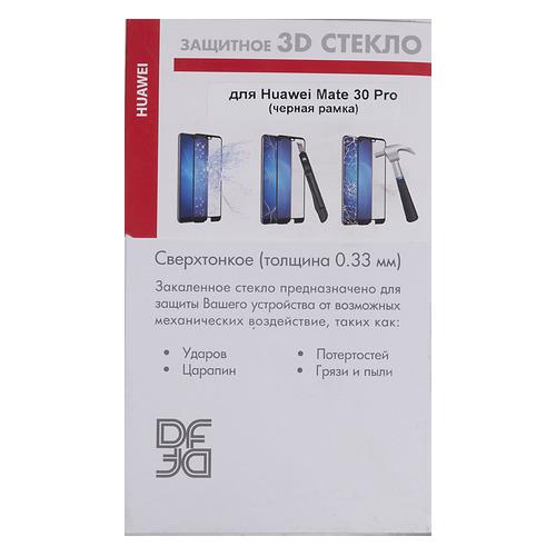 цена на Защитное стекло для экрана DF hwColor-109 для Huawei Mate 30 Pro, прозрачная, 1 шт, черный [df hwcolor-109 (black)]