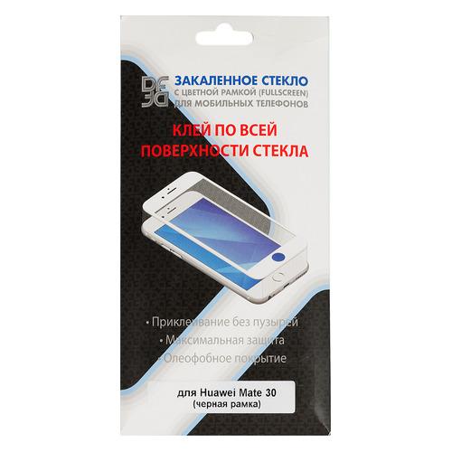 Защитное стекло для экрана DF hwColor-107 для Huawei Mate 30, прозрачная, 1 шт, черный [df hwcolor-107 (black)]