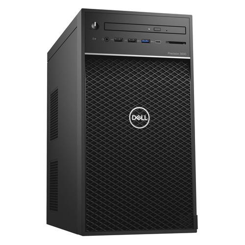 Рабочая станция DELL Precision 3630, Intel Xeon E-2224, DDR4 16Гб, 1000Гб, 256Гб(SSD), NVIDIA Quadro P1000 - 4096 Мб, DVD-RW, CR, Windows 10 Professional, черный [3630-5932] DELL