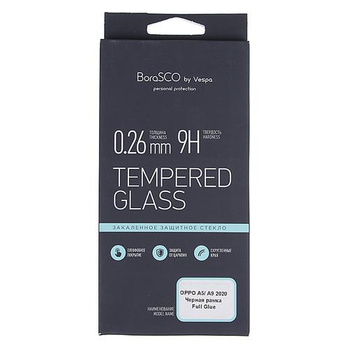 Защитное стекло для экрана BORASCO для Oppo A5/A9 (2020), антиблик, 1 шт, черный [37912] BORASCO