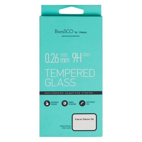 Защитное стекло для экрана BORASCO для Xiaomi Redmi 8A, антиблик, 1 шт, прозрачный [37906] BORASCO