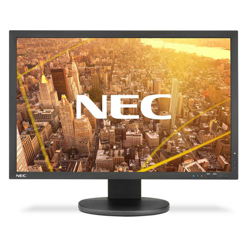 Монитор NEC PA243W-BK 24, черный монитор 24 nec multisync ea244wmi bk black ips led 1920x1200 5ms vga dvi hdmi displayport usb