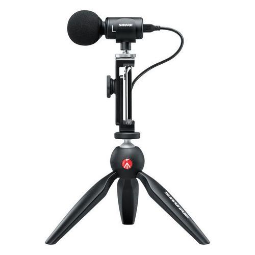 Микрофон SHURE Motiv MV88+, черный [mv88+ video kit]