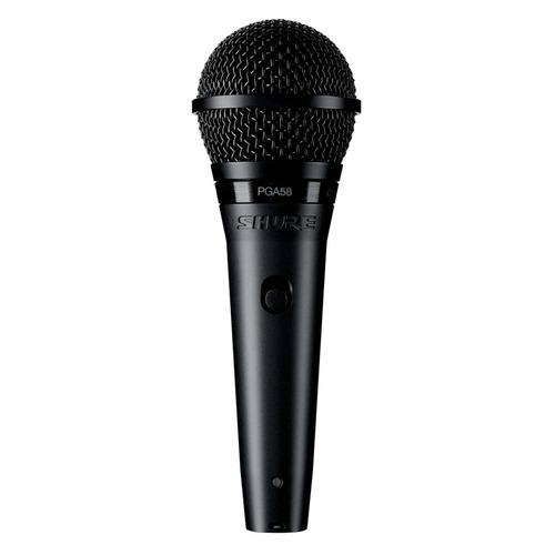 Микрофон Shure PGA48-XLR-E, черный/серебристый NONAME