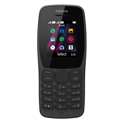 Мобильный телефон NOKIA 110 DS TA-1192, черный NOKIA