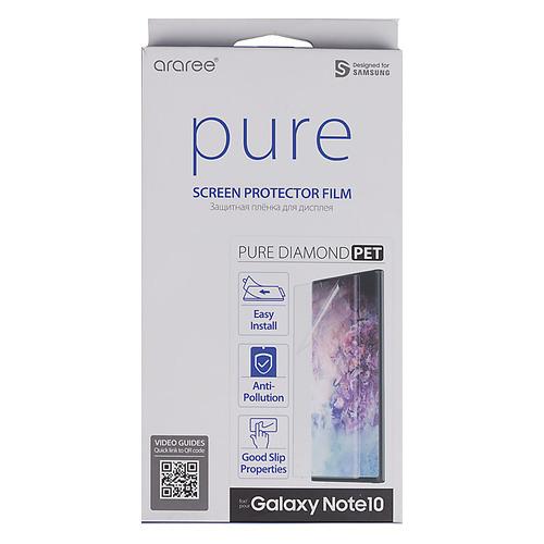 Защитная пленка для экрана SAMSUNG araree Pure Diamond для Samsung Galaxy Note 10, прозрачная, 1 шт [gp-tfn970kdatr]