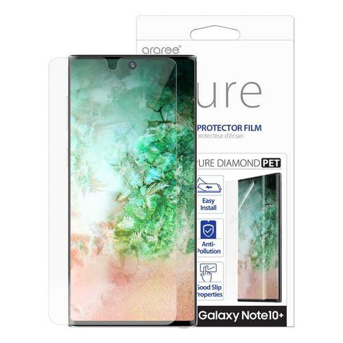 Защитная пленка для экрана SAMSUNG araree Pure Diamond для Samsung Galaxy Note 10+, прозрачная, 1 шт [gp-tfn975kdatr]