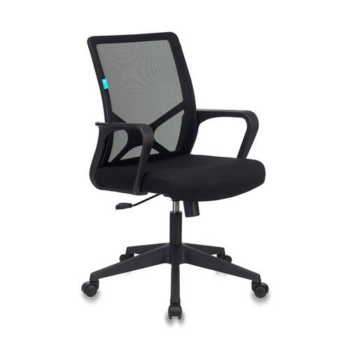 Кресло БЮРОКРАТ MC-101, на колесиках, ткань, черный [mc-101/b/26-b01] кресло офисное персона persona доступные цвета обивки искусств чёрная кожа