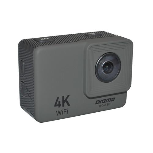 Экшн-камера DIGMA DiCam 82C 4K, WiFi, серый [dc82c]