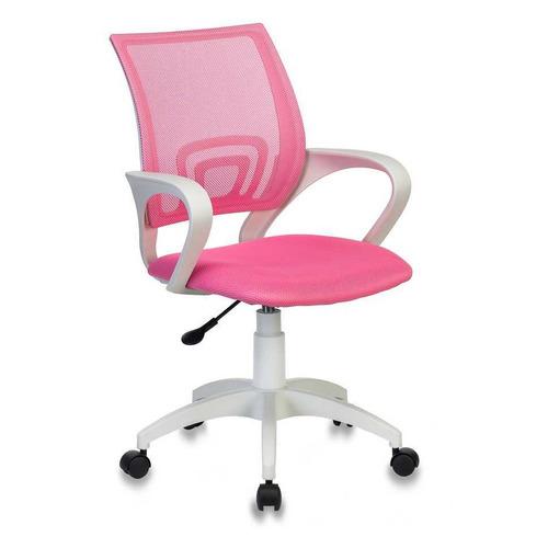 Кресло БЮРОКРАТ CH W696, на колесиках, сетка/ткань, розовый [ch w696 pink] БЮРОКРАТ