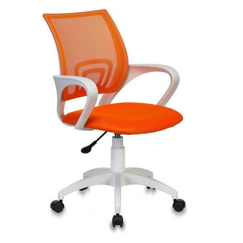 Кресло БЮРОКРАТ CH W696, на колесиках, сетка/ткань, оранжевый [ch w696 or] БЮРОКРАТ