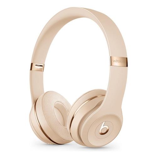 Наушники с микрофоном BEATS Solo3, Bluetooth, накладные, золотистый [mx462ee/a] BEATS