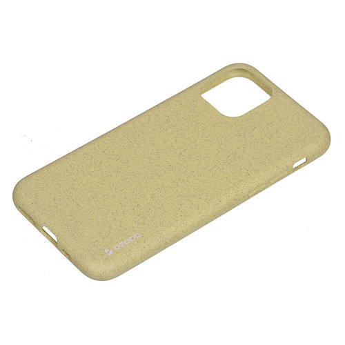 Чехол (клип-кейс) DEPPA Eco Case, для Apple iPhone 11 Pro, желтый [87273] DEPPA