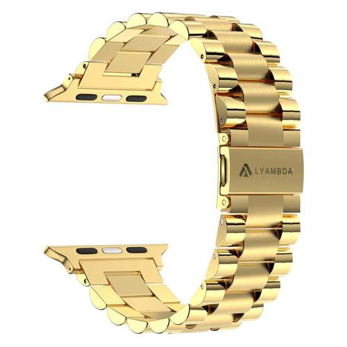 Ремешок Lyambda Keid для Apple Watch Series 3/4/5 золотистый (DS-APG-02-40-GL) NONAME