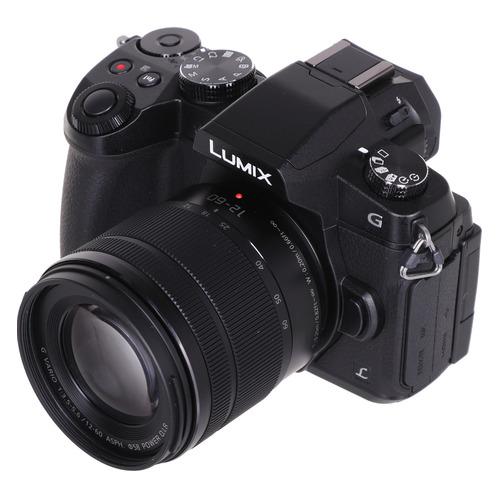 Фотоаппарат PANASONIC Lumix DMC-G80MEE-K kit ( Lumix G Vario 12-60мм/F3.5-5.6 ASPH/Power O.I.S.), черный объектив panasonic h ps45175e k lumix g x vario pz 45 175 mm f 4 0 5 6 asph power o i s black