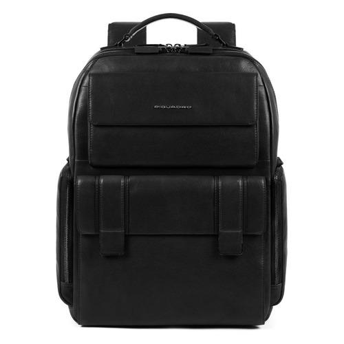 Рюкзак мужской Piquadro Kobe CA4942S105/N черный натур.кожа рюкзак для ноутбука 15 6 thule lithos backpack tlbp 116 синий