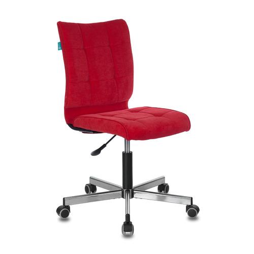 Кресло БЮРОКРАТ CH-330M, на колесиках, ткань, красный [ch-330m/velv88]