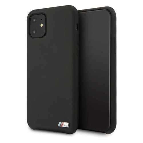 Чехол (клип-кейс) BMW Silicon case, для Apple iPhone 11, черный [bmhcn61msilbk]